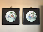Antiques Porcelain Plaques Famille Rose Hand Painted Chinese Asian