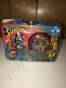 Superman Lunch Box Watch And Alarm Clock Set