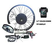 Tft Display + 3000w 26 X 4.0 Rear Fat Wheel Electric Bike Motor Conversion Kit