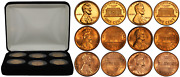 1960 Lincoln Cent Penny Complete 6 Coin Set Large And Small Dates Proof And Bu