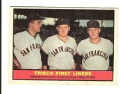Vintage 1961 Topps 383 Frisco First Liners Baseball Card Vg Centering Off