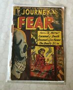 Journey Into Fear 18 March 1954 Precode Horror Comic Weird Ungraded Death Skull