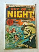 Out Of The Night 10 Pre-code Horror Vhtf Ship Of Death Comic Pch Acg 1953 Rare