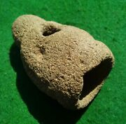 Authentic Indian Artifact 2-5/8 Mississippian Pipe Native American Arrowhead