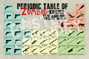 104808 Zombie Killing Weapons Periodic Table Reference Laminated Poster Ca
