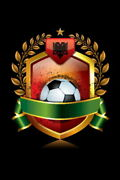 107752 Albania Soccer Icon With Laurel Wreath Sports Decor Laminated Poster Ca