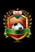 109510 Wales Soccer Icon With Laurel Wreath Sports Decor Laminated Poster Ca