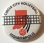 """Vintage Circle City Volleyball Indianoplis 2"""" Pinback Button"""