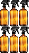 Sally's Organics Empty Amber Glass Spray Bottle - Large 16 Oz Refillable Contain