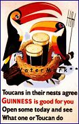 One Or Toucan Can Do Guinness Vintage Poster Print Toucan Birds Advertisement