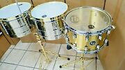 Lp 15 And 16 S Prestige Gold Chrome Hardware + 14 Brass Banda Snare Timbale Set
