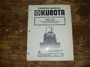 Kubota L2040 Front Blade For Tractor 2250 2250dt Operator Maintenance Manual