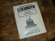 Kubota L2040 Front Blade For Tractor 2550 2550dt Operator Maintenance Manual