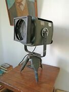 Vintage Strand Electric Theater Projector Industrial Tripod Floor Or Desk Lamp