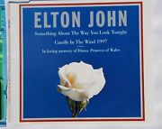 Elton John Candle In The Wind In Memory Of Lady Diana Signed Single Cover