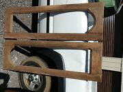 Pair Of Antique Vintage Old Wood Cabinet Doors, Missing Glass, 18 1/2 - 57 1/2