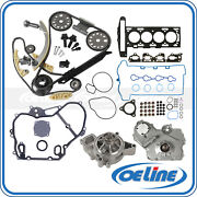Fit 07-08 Chevrolet Pontiac G5 Timing Chain Kit Head Gasket Bolts Water Oil Pump