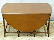 Beacon Hill Collection Mahogany Drop Leaf Gate- Leg Table Coffee Table