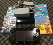 Nintendo Wii U 32gb Console White With Gamepad Cables And 4 Game