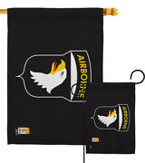 101st Airborne Garden Flag Military Army Division Air Assault Paratrooper Banner