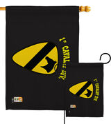 Black 1st Cavalry Garden Flag Military First Team Arms Division Yard Banner