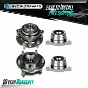 2 Front + 2 Rear Wheel Hub Bearing And Module For 2007 2008-2018 Toyota Tundra Rwd