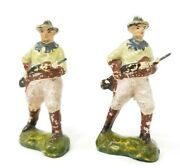 Vintage Paper Mache Model Colonial British Toy Soldiers Infantry