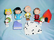Pmi Ufs Peanuts Gang Ghost Charlie Brown Halloween 5 Figure Lot Snoopy Lucy
