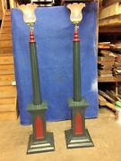Antique Torchiere Gas Lamps 6' Tall