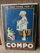 Circa 1910 Compo Soap Advertising Cardboard Sign 10 X 14 Country Store Sign