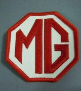 Mg Red Octagon Iron-on British Automotive Car Patch 2.75