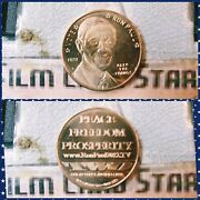 Ron Paul Liberty 2012 Peace Freedom Prosperity Copper .999 Proof Coin Round 1 Oz