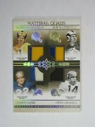 2007 Playoff National Treasures Material Quads Van Brocklin Waterfield Layne Gra
