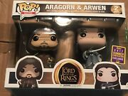 Funko Pop Movies 2 Pack Aragorn And Arwen 2017 Summer Convention Exclusive