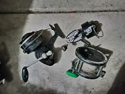 Used Penn Garcia Mitchell Saltwater Spinning Reels Combo