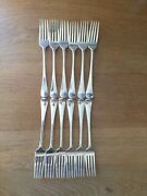 Set 0f 12 Antique Silver Table Forks Old English Pattern London 1798