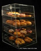 4 Tier Acrylic Donut Pastry Display Case With Removable Trays Size 12andrdquow X 14andrdquod