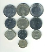 India - Republic - Lot Of 10 Different Coins - Great Starter - Lot In-19