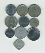 India - Republic - Lot Of 10 Different Coins - Great Starter - Lot In-22