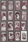Wills 1897 Beauties Brown Back Set Of 30 Same As New York Public Library