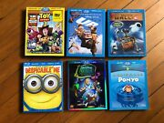 Disney Blu-ray Collection Toy Story Up Wall E Ponyo Complete With Codes