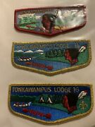 Order Of The Arrow Vintage Www Tonkawampus Lodge 16 Lot Of 3 Flaps 60's 70's