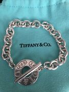 And Co 1837 Round Link Toggle Bracelet 7in Rare Pre-owned
