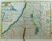 Rare 18th C Map Land Of Canaan Holy Land Israel/palestine 1738 By E. Wells Uk