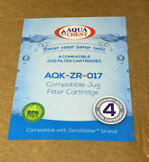 4 Pack Aqua Crest Zerowater Replacement Filters Compatible With Zerowater Zr-017