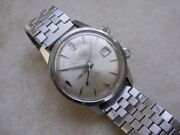 Vintage Collectible Alsta Mechanical Datalarm In Stainless Steel Case And Bracelet