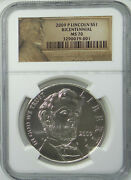 2009-p Abraham Lincoln Bicentennial Commemorative 1 Silver Coin Ngc Ms70 Ms-70