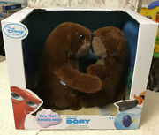 Disney Store Finding Dory Interactive Otters Plush Set - New In Box