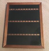 Vintage Smc Wood Glass Front 36 Spoon Jewelry Display Wall Table Cabinet Case