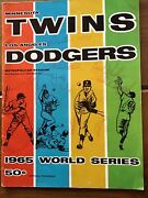 1965 World Series 2nd Game Program – Twins Vs.dodgers. Autographed